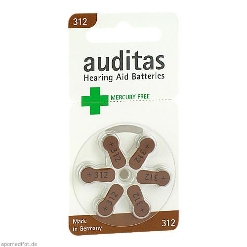 auditas 312 MF Hörgerätebatterie, 6 ST, Auditas GmbH