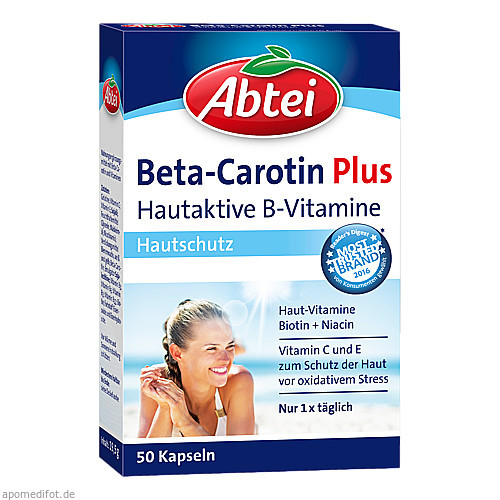 ABTEI Beta-Carotin PLUS (Hautaktive B-Vitamine), 50 ST, Omega Pharma Deutschland GmbH