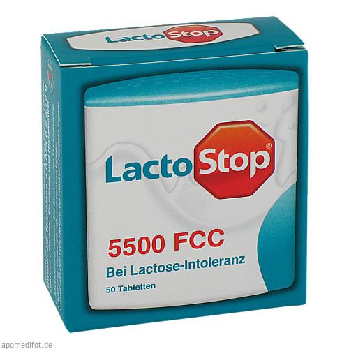 LACTOSTOP 5.500 FCC Tabletten im Klickspender, 50 ST, Hübner Naturarzneimittel GmbH