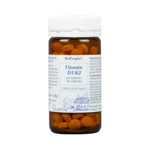 Vitamin D3 K2, 120 ST, Bioprophyl GmbH
