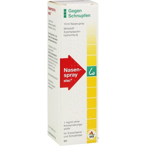Nasenspray elac 1 mg/ml ohne Konservierungsstoffe, 10 ML, Aristo Pharma GmbH