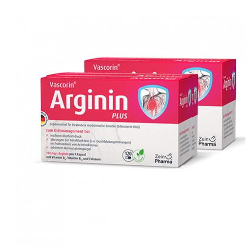 Vascorin Arginin Plus Kapseln, 360 ST, Zein Pharma - Germany GmbH
