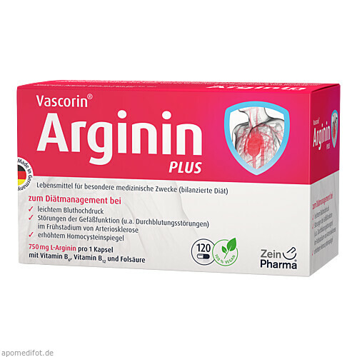Vascorin Arginin Plus Kapseln, 120 ST, Zein Pharma - Germany GmbH