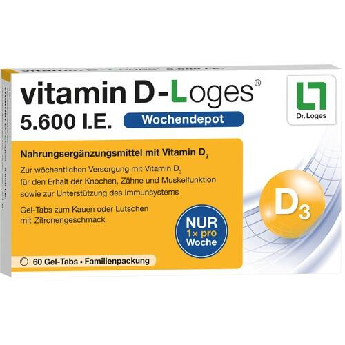 vitamin D-Loges 5.600 I.E. Familienpackung, 60 ST, Dr. Loges + Co. GmbH
