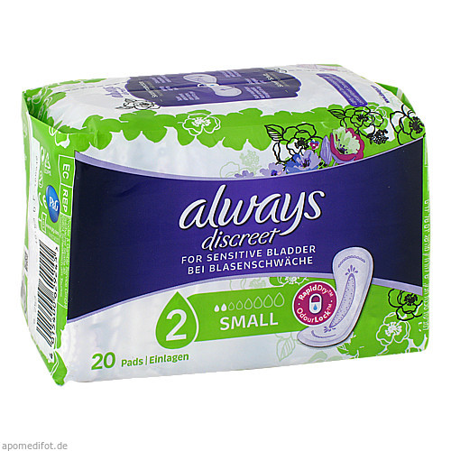 always Discreet Inkontinenz Small, 20 ST, Procter & Gamble GmbH