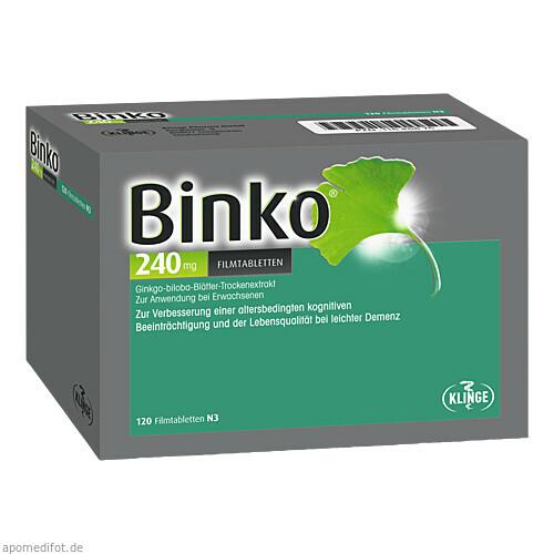 Binko 240 mg Filmtabletten, 120 ST, Klinge Pharma GmbH