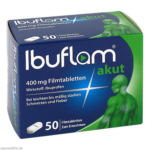Ibuflam akut 400mg Filmtabletten, 50 ST, Sanofi-Aventis Deutschland GmbH GB Selbstmedikation /Consumer-Care