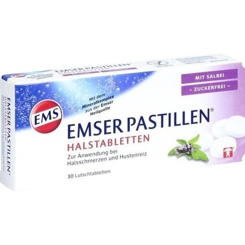 Emser Pastillen mit Salbei zuckerfrei, 30 ST, Siemens & Co