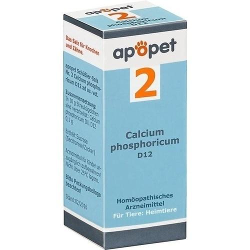 APOPET Schüßler-Salz Nr.2 Calcium phos.D 12 vet., 12 G, Orthim KG