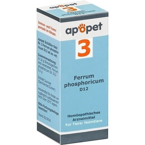 APOPET Schüßler-Salz Nr.3 Ferrum phos.D 12 vet., 12 G, Orthim KG