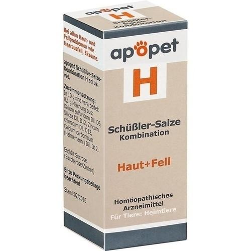 APOPET Schüßler-Salze-Kombination H ad us.vet.Gl., 12 G, Orthim KG