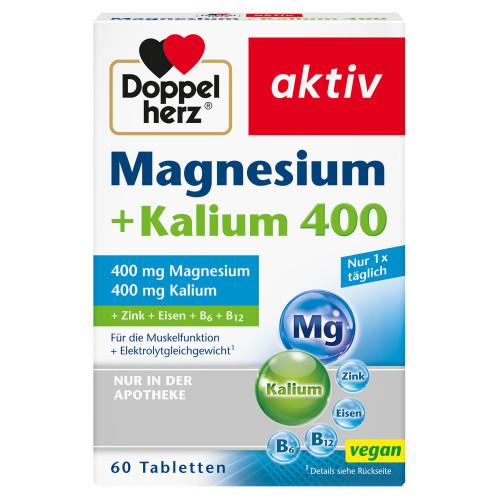 Doppelherz Magnesium+Kalium, 60 ST, Queisser Pharma GmbH & Co. KG