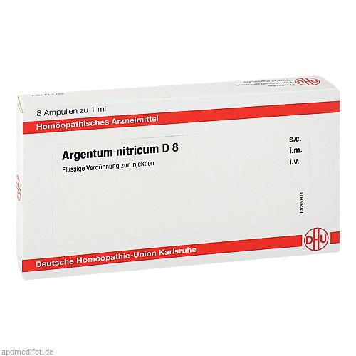 ARGENTUM NITRICUM D8 AMPULLEN, 8X1 ML, Dhu-Arzneimittel GmbH & Co. KG