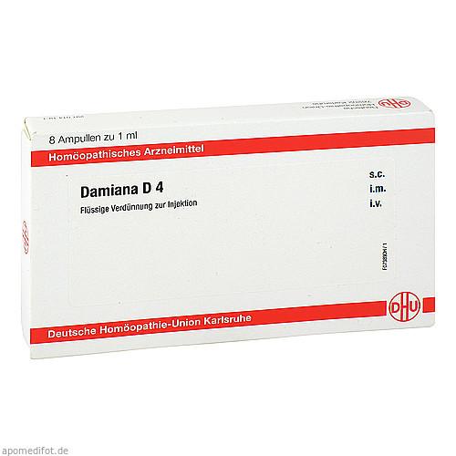 DAMIANA D4 AMPULLEN, 8X1 ML, Dhu-Arzneimittel GmbH & Co. KG