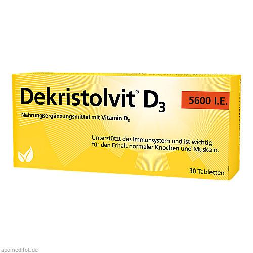 DEKRISTOLVIT D3 5.600 I.E. Tabletten, 30 ST, Hübner Naturarzneimittel GmbH