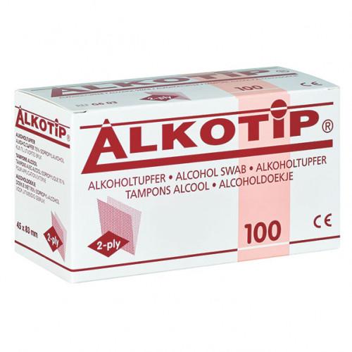 Alkotip Alkoholtupfer 45 x 83 mm 2-Ply, 100 ST, Diaprax GmbH
