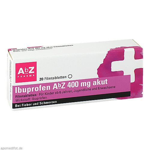 Ibuprofen AbZ 400 mg akut Filmtabletten, 20 ST, Abz-Pharma GmbH