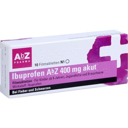Ibuprofen AbZ 400 mg akut Filmtabletten, 10 ST, Abz Pharma GmbH