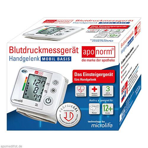 Aponorm Blutdruck Messgerät Mobil Basis Handgelenk, 1 ST, WEPA Apothekenbedarf GmbH & Co KG