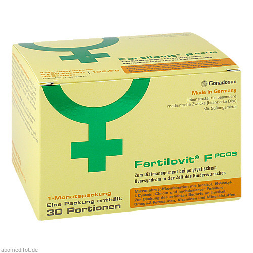 Fertilovit F PCOS 60 Kapseln + 30 Pulver-Sticks, 1 P, Gonadosan Distribution GmbH