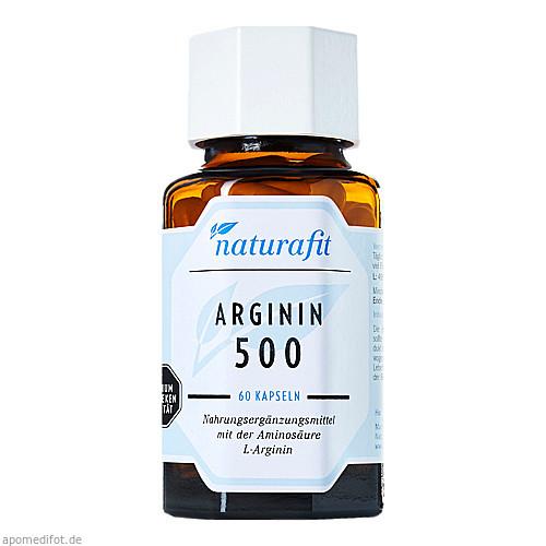 Naturafit Arginin 500, 60 ST, Naturafit GmbH