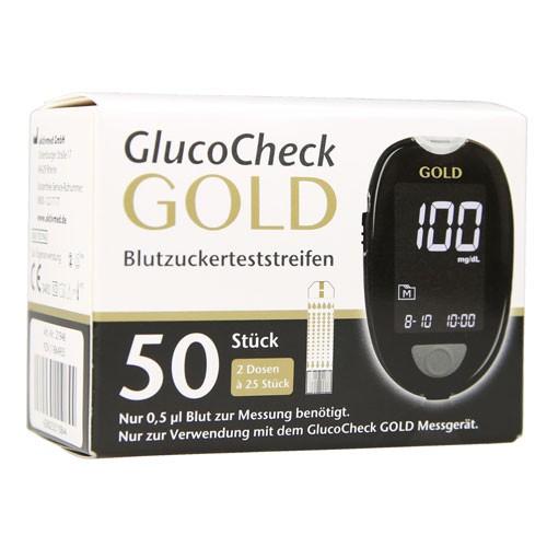 GlucoCheck GOLD Blutzuckerteststreifen, 50 ST, Aktivmed GmbH