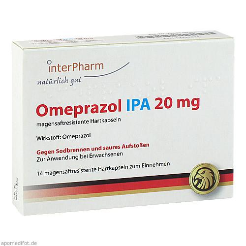 Omeprazol IPA 20mg, 14 ST, Inter Pharm Arzneimittel GmbH