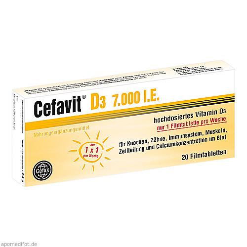 Cefavit D3 7.000 I.E., 20 ST, Cefak KG