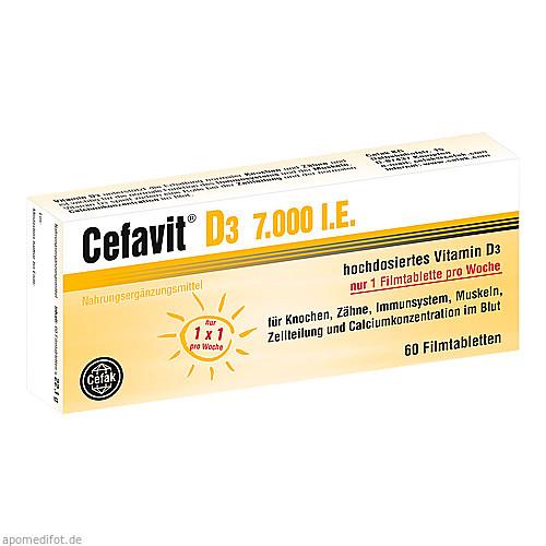 Cefavit D3 7.000 I.E., 60 ST, Cefak KG