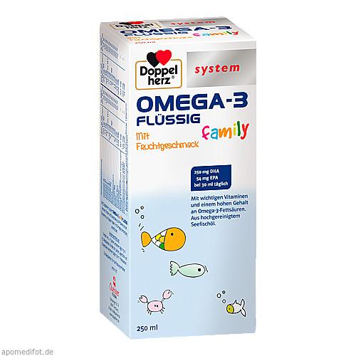 Doppelherz Omega-3 Family Flüssig system, 250 ML, Queisser Pharma GmbH & Co. KG