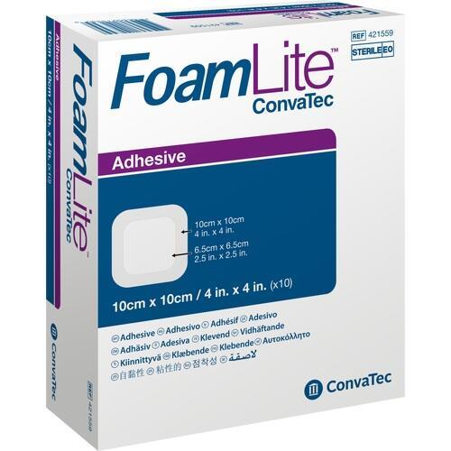 Foam Lite ConvaTec adhäsiv 10x10cm, 10 ST, Convatec (Germany) GmbH
