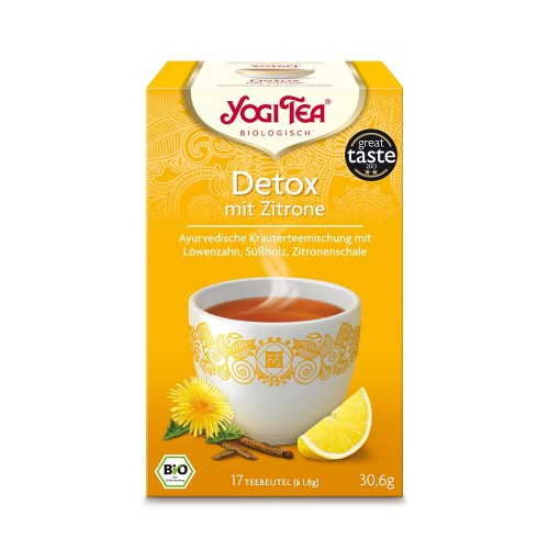 Yogi Tea Detox Deine Seele mit Zitrone, 17X1.8 G, Taoasis GmbH Natur Duft Manufaktur