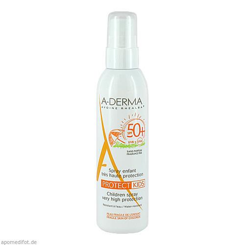 A-DERMA PROTECT Spray Kinder SPF 50+, 200 ML, PIERRE FABRE DERMO KOSMETIK GmbH GB - DUCRAY A-DERMA PFD
