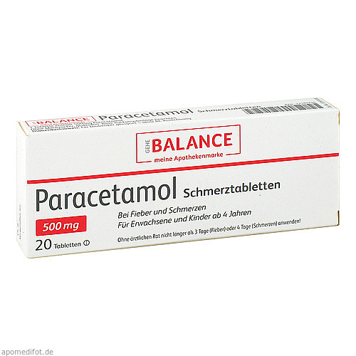 Paracetamol Schmerztabletten Balance, 20 ST, Gehe Pharma Handel GmbH