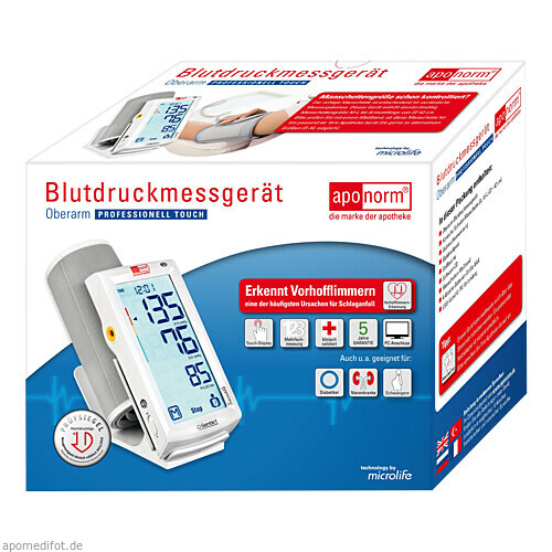 Aponorm Blutdruck Messgerät Prof. Touch Oberarm, 1 ST, Wepa Apothekenbedarf GmbH & Co. KG
