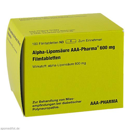 Alpha-Liponsäure AAA-Pharma 600mg Filmtabletten, 100 ST, Aaa - Pharma GmbH