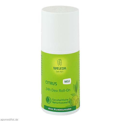 WELEDA Citrus 24h Deo Roll-on, 50 ML, WELEDA AG