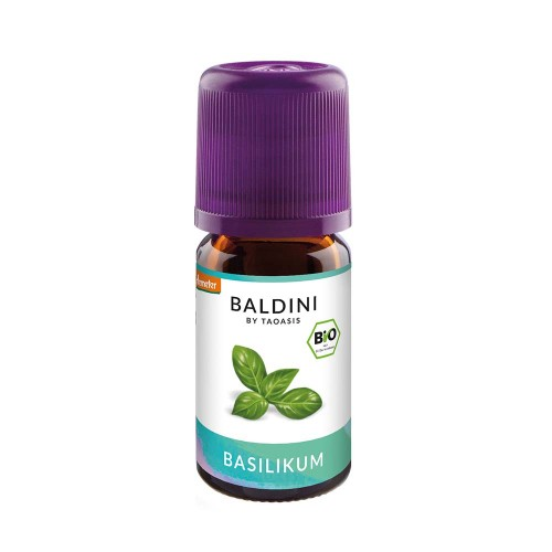 Baldini BioAroma Basilikum Bio/demeter, 5 ML, Taoasis GmbH Natur Duft Manufaktur