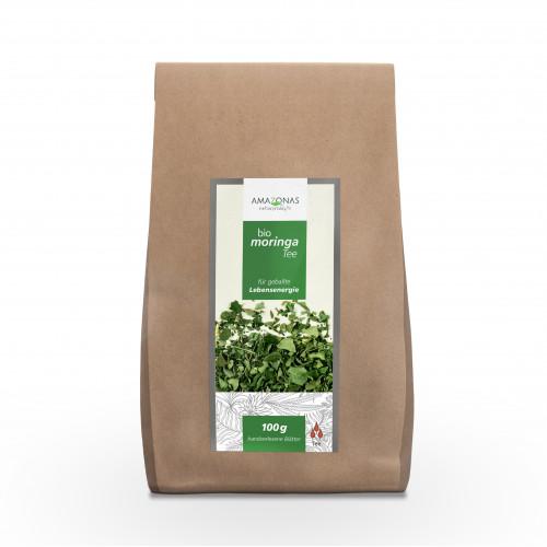 Moringa 100% Bio Blätter Tee Pur, 100 G, Amazonas Naturprodukte Handels GmbH