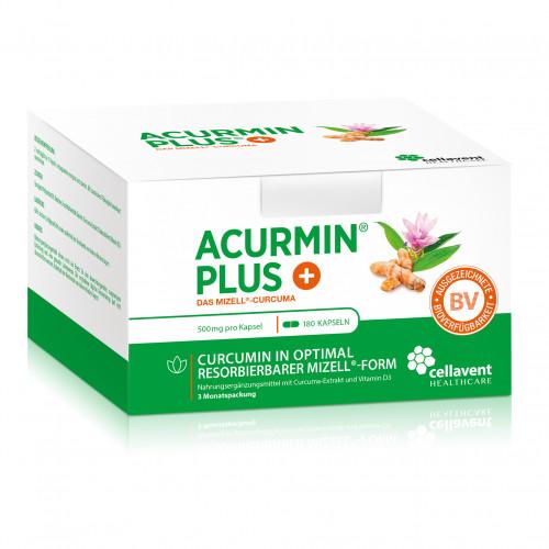 ACURMINPlus - Das Mizell-Curcuma. Weichkapseln, 180 ST, Cellavent Healthcare GmbH