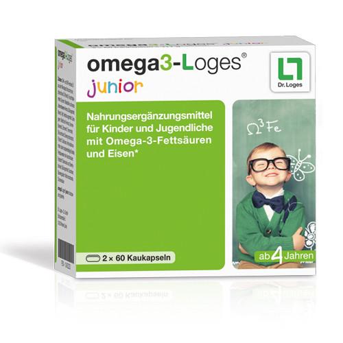 omega3-Loges junior, 120 ST, Dr. Loges + Co. GmbH