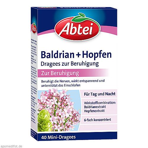 ABTEI Baldrian + Hopfen Drg z. Beruhigung, 40 ST, Omega Pharma Deutschland GmbH