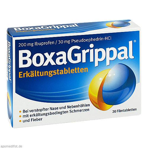 BoxaGrippal Erkältungstabletten 200mg/30mg FTA, 20 ST, Sanofi-Aventis Deutschland GmbH GB Selbstmedikation /Consumer-Care
