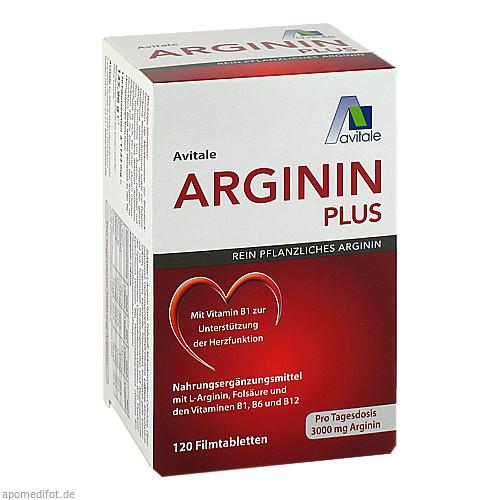 Arginin plus Vitamin B1+B6+B12+Folsäure, 120 ST, Avitale GmbH