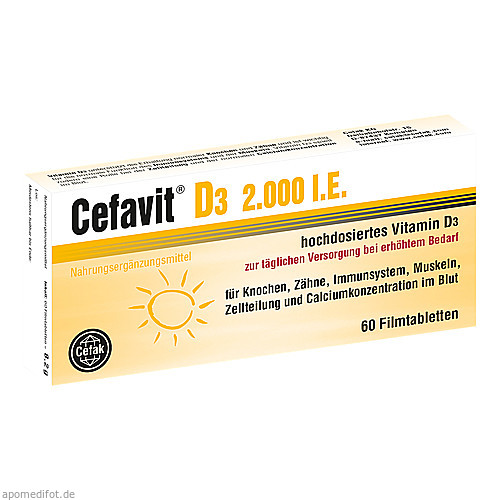 Cefavit D3 2.000 I.E., 60 ST, Cefak KG