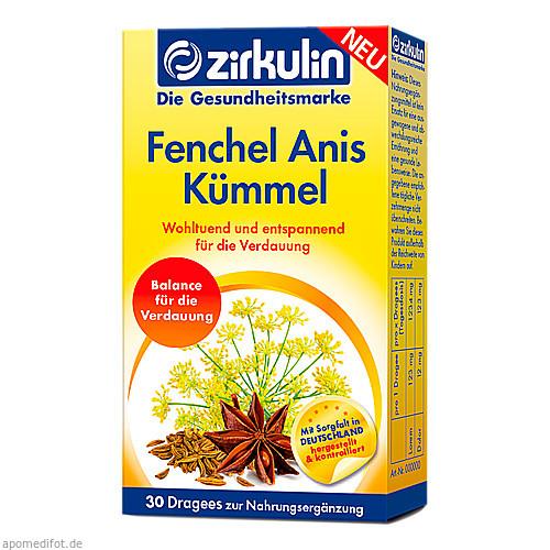 Zirkulin Fenchel Anis Kümmel Dragees, 30 ST, Roha Arzneimittel GmbH