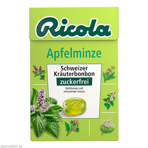 Ricola oZ Box Apfelminze, 50 G, Queisser Pharma GmbH & Co. KG