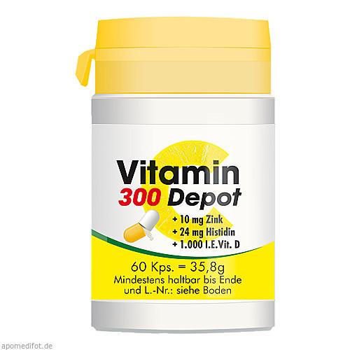 Vitamin C 300 Depot + Zink + Histidin + D, 60 ST, Pharma Peter GmbH