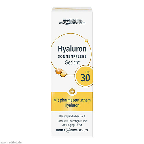 Hyaluron Sonnenpflege Gesicht LSF 30, 50 ML, Dr. Theiss Naturwaren GmbH