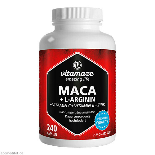 Maca hochdosiert + L-Arginin Vitamaze, 240 ST, Vitamaze GmbH